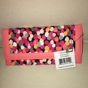 New Vera Bradley Trifold Wallet Pixie Confetti